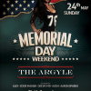 Memorial Day WKND @ ARGYLE 05-24-15